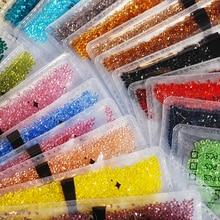 T-TIAO CLUB Colorful Transparent Crystal Nail Rhinestones 1440pcs/lot Multi-size Manicure Art 3D Decoration Tips