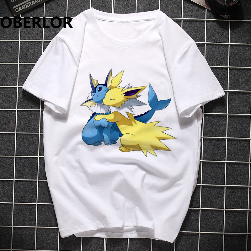Pokemon Pikachu Unisex T-shirt Cotton O-Neck Casual Korean Style Clothes Harajuku Japan Streetwear T Shirt Men Anime Clothing