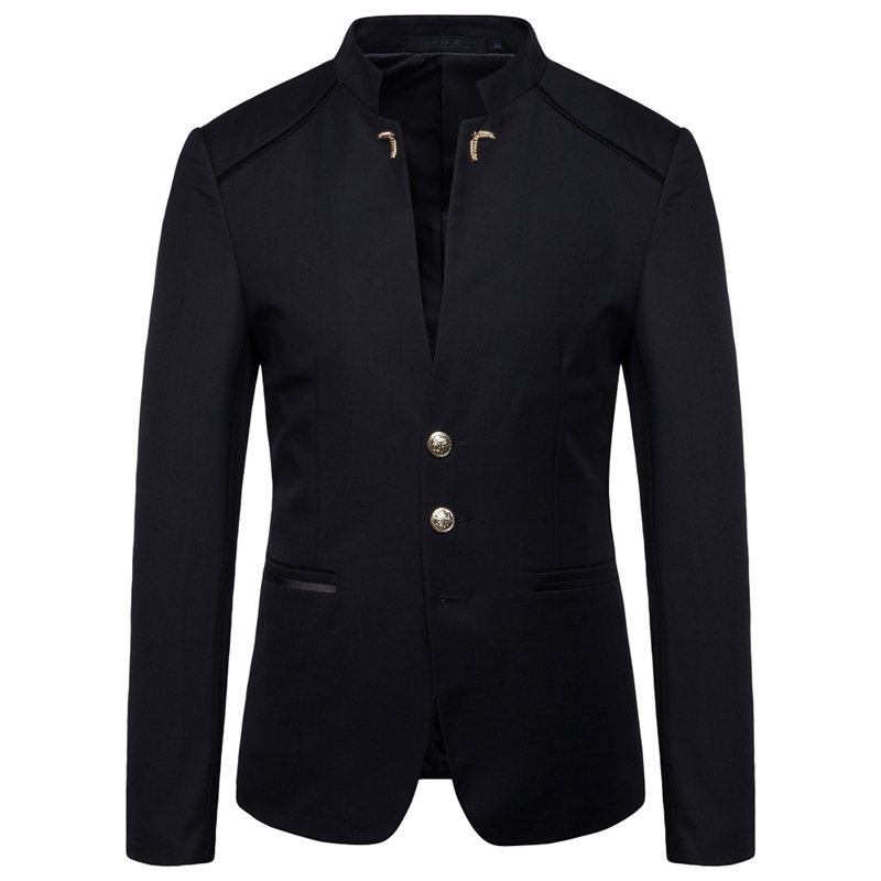 2020 Men Blazer Coat Autumn New  Men Suit Jacket Slim Fit Black Red Blue Coats And Jackets Male
