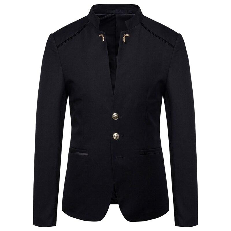 Hommes blazers 2019 Asie taille S-4XL hommes blazer veste Slim fit hommes costume veste Noir Rouge Bleu