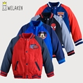 weLaken 2017 New Spring Autumn Boys Jacket Cartoon Pattern Kids Coat for 2-8Yrs Boy Casual Outerwear Children's Clothing