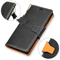 BuzzLee Vintage Litchi Stria Genuine Leather Flip Stand Wallet Phone Case For Huawei P10 Lite Mate