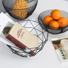 Metal Fruit Vegetable Storage Bowls Kitchen Egg Baskets Holder Nordic Minimalism