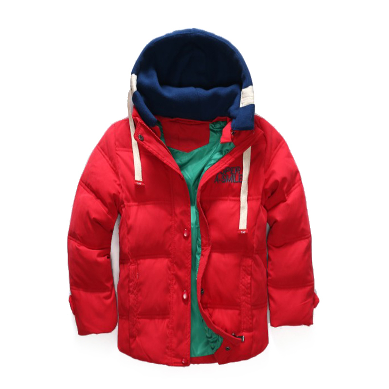 Kids Warm Outerwear Boy Girl Short Solid Color Hooded Detachable Short Down Jacket Children's  Jackets Winter Coat for 3-7 Years