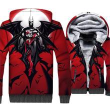 Super Hero Batman & Joker Harley Quinn 3D Jackets Men New Style 2019 Winter Warm Fleece Hoodies Sweatshirts Mens Tracksuit