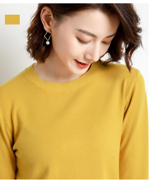 Yellow Cashmere Sweater For Women Sweaters Female Pink Wool Winter Woman Sweater Knitting Pullovers Knitted Sweaters Jumper 2019 27