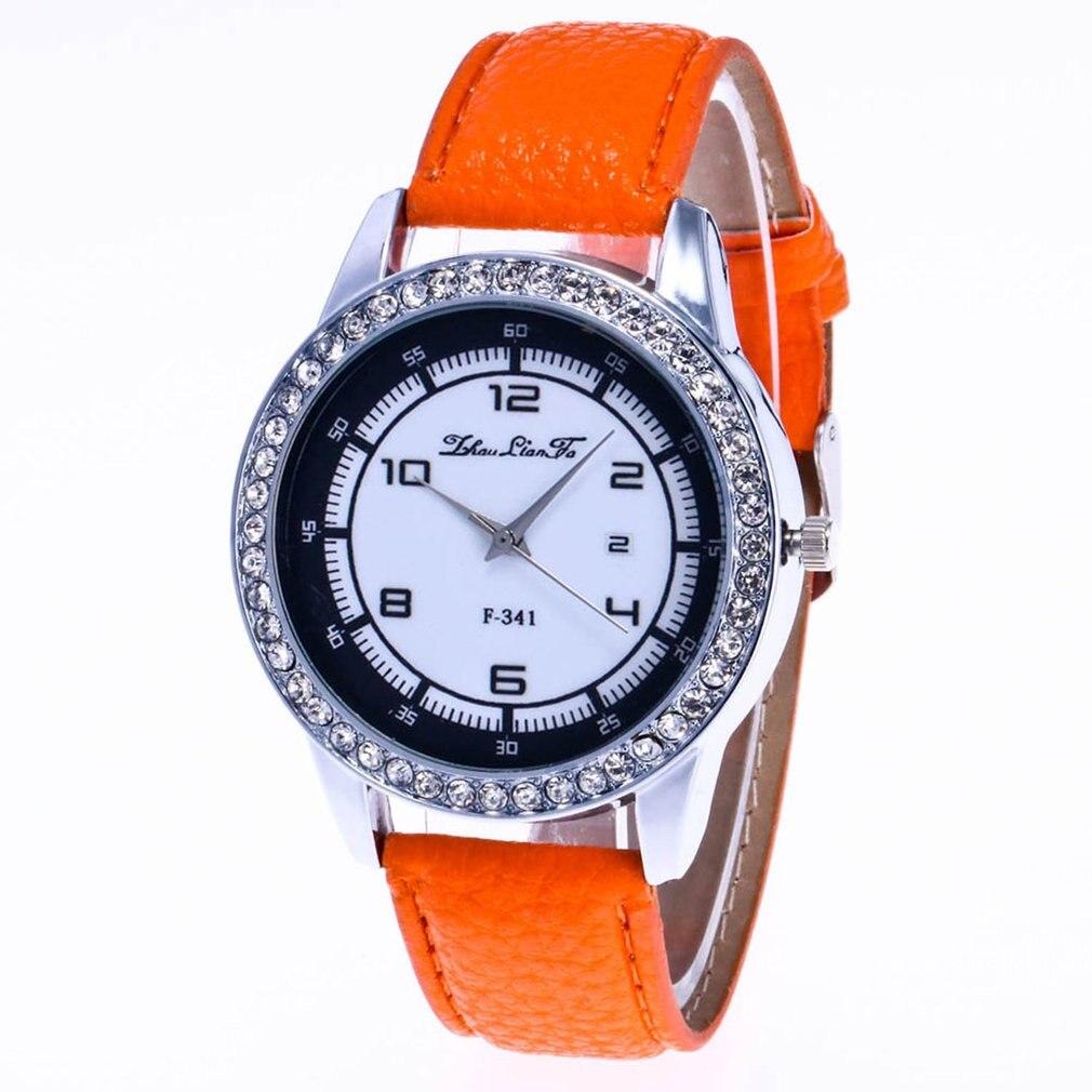 Fashion Women Quartz Watch Rhinestone Pattern Leather Watchband Strap Easy Fit Elegant Wise Classic Design 2018 Relogio Feminino