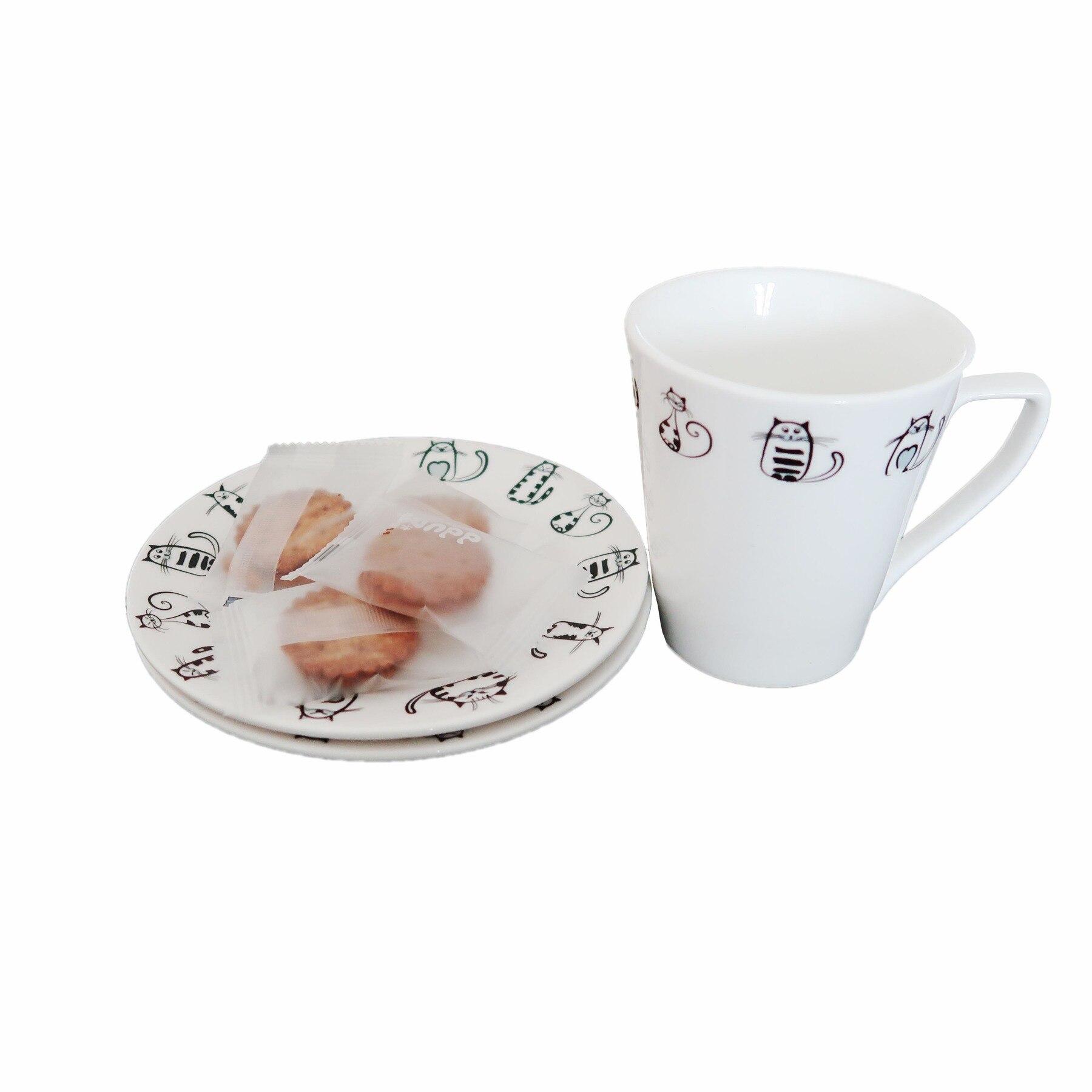 de Cerâmica Pequena Xícara de Café Prato