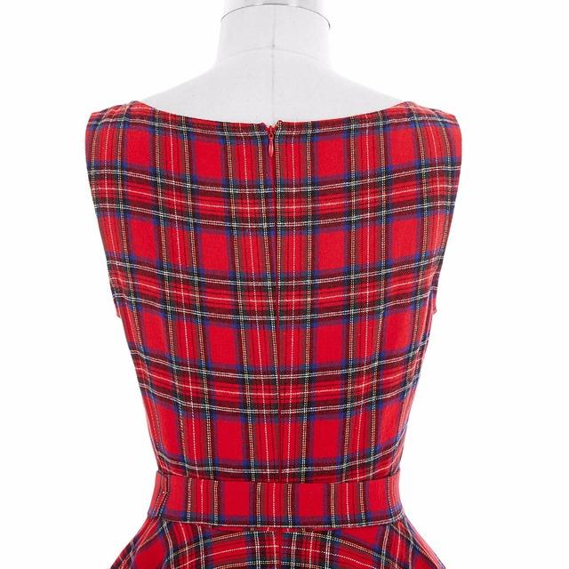Belle Poque Plaid Pattern Audrey Hepburn Big Swing Sexy Party Vintage Dresses 50s 60s Summer Dress 2017 Plus Size Women Clothing