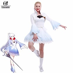 Anime-RWBY-Weiss-Schnee-Cosplay-Costume-Ice-Queen-White-Trailer-Cosplay-S-M-L-Size-CC1921A