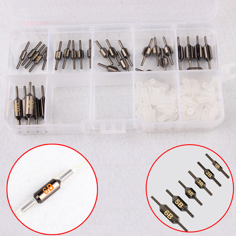 50pcs Bullet Shape Gold Brass Fishing Sinkers  Lures Weights Sinkers W//Box Kit