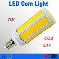 E14 LEVOU Milho Luz 7 W COB Ultra brilhante SMD CONDUZIU a Lâmpada do Bulbo 220 V luzes do Ponto de iluminação Interior para casa banheiro CE ROHS x 10 pcs