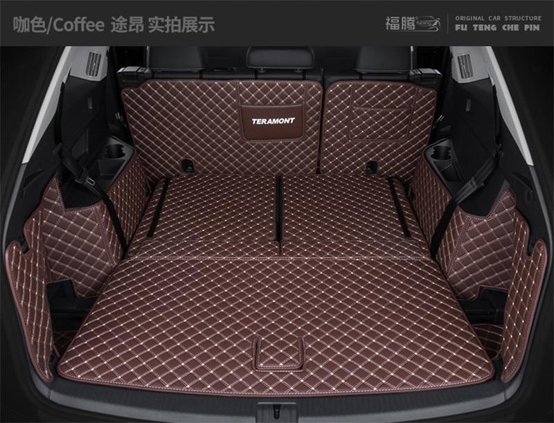 Sept-siège dédié complet soutenu tronc tronc boîte tapis tapis tapis Pour Volkswagen Teramont/Atlas 2017- 2018