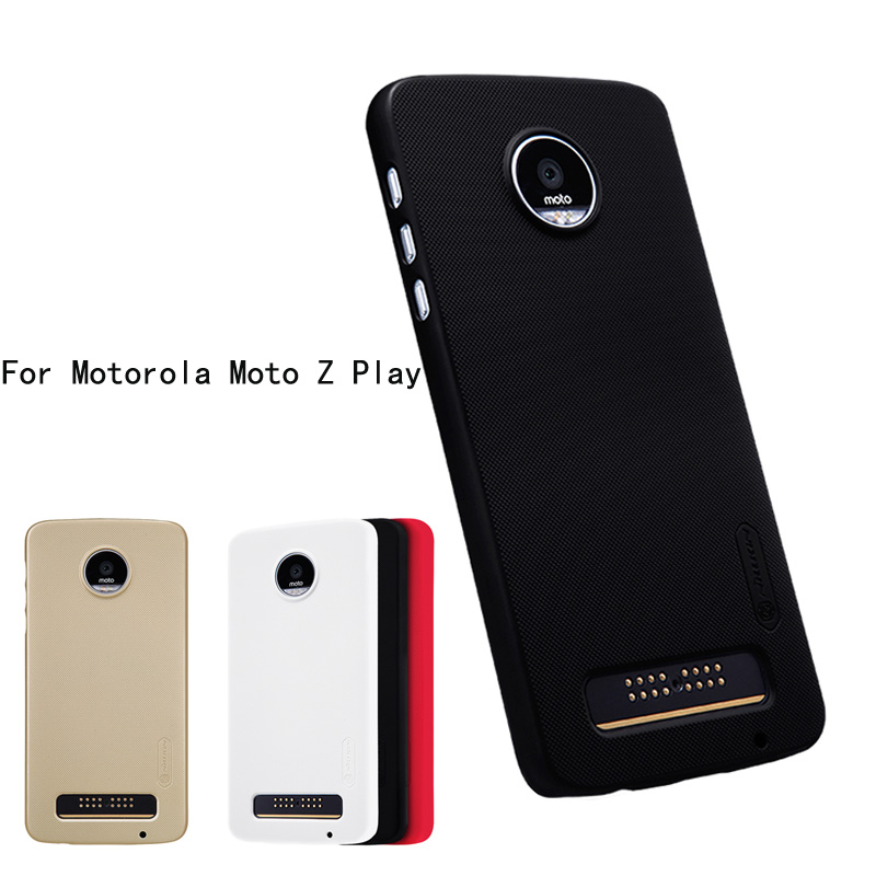 super popular f262a e396d For Motorola Moto Z Play Case NILLKIN Super Frosted Shield Case ...