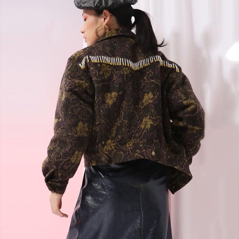 Collar Lettre Zll1869 down Pleine Manches Impression Picture Automne Manteau Mode Gland 2018 Femmes Europe xitao Femalr Nouveau Lâche Turn Veste See nxzw8Uqv