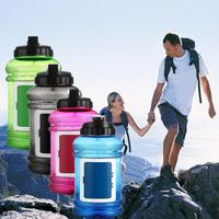 2 2L Big Large BPA Free Sport Gym Water Bottle With Storage Hole Creative Design Training