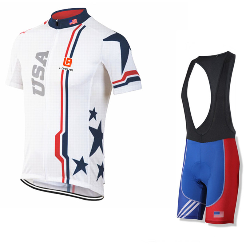 2017 cycling <font><b>jersey</b></font> USA Flag National team clothing bike wear riding racing ropa ciclismo XS - 5XL longao <font><b>jersey</b></font> United States