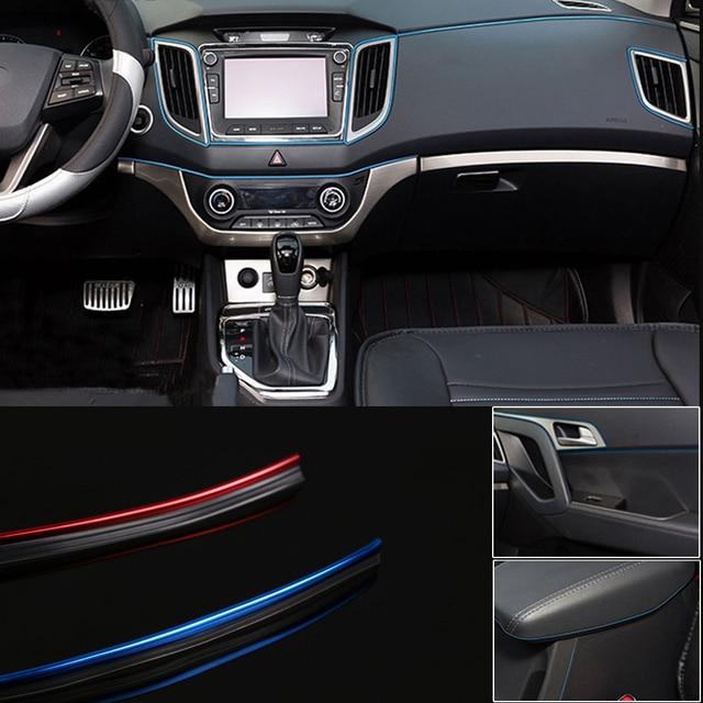 2m car interior dashboard panel gap flexible decoration moulding trim strip line diy car styling. Black Bedroom Furniture Sets. Home Design Ideas