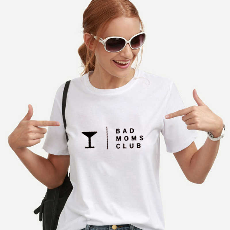 9e515a5b12f08 EnjoytheSpirit Women T Shirt Bad Moms Club Funny T-shirts Gift for Mama with  Saying
