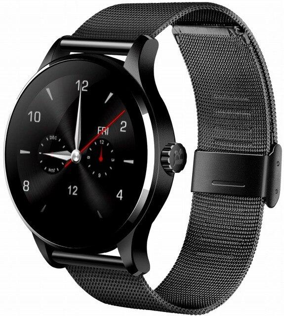 Kuddly K88H smart electronics smat watch fashion smart watch android leather strap smartwatch women relogio celular