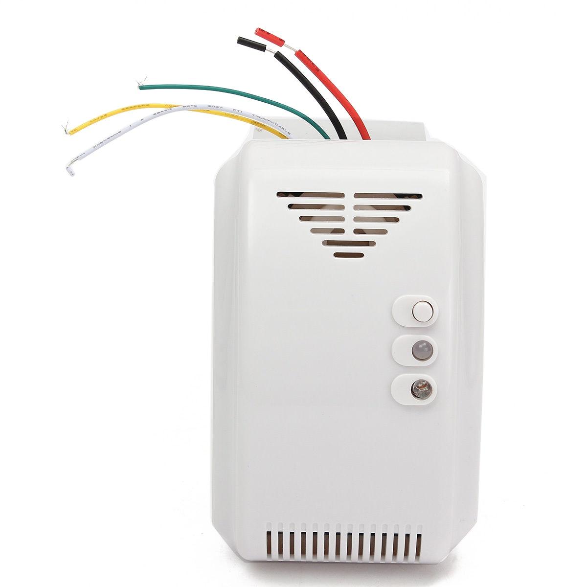 1pc Stable White Gas Leak Sensor Alarm 12V DC Propane Butane LPG Natural Coal Gas Detector for Leisure Craft Vehicles Mayitr