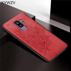 Image 5 - Do Samsung Galaxy S9 Plus etui miękkie TPU tkanina silikonowa tekstura twardy PC etui na telefon Samsung S9 Plus etui na Galaxy s9 Plus