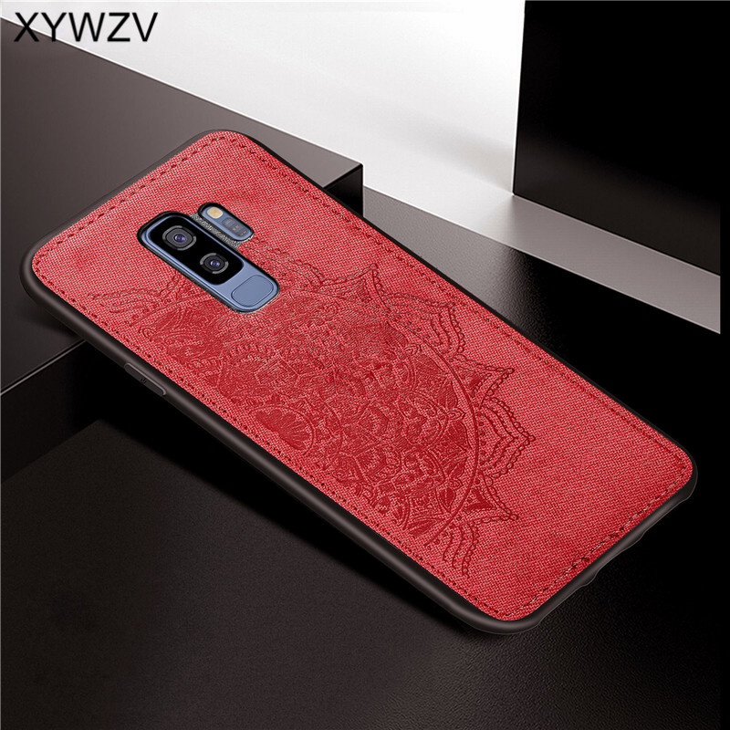 Image 5 - For Samsung Galaxy S9 Plus Case Soft TPU Silicone Cloth Texture Hard PC Phone Case For Samsung S9 Plus Cover For Galaxy S9 Plus-in Fitted Cases from Cellphones & Telecommunications