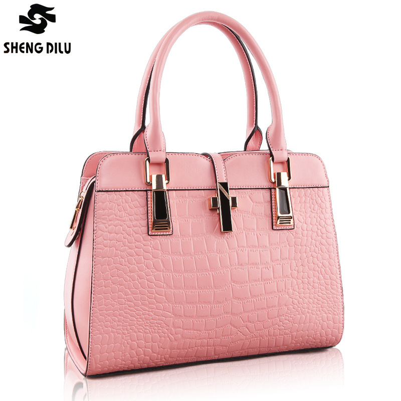 PROMOTION New 2016 European Fashion Famous Designers Brand handbags women bags GENUINE LEATHER BAGS/shoulder totes bags 1018# new 2016 simple fashion brand designers handbags women composite bag women crocodile pattern totes wallets