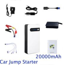 12 В чрезвычайных зарядное устройство Power Bank 20000 мАч для мобильного телефона и автомобиль скачок стартер ноутбук IPad ups резервного копирования мощность