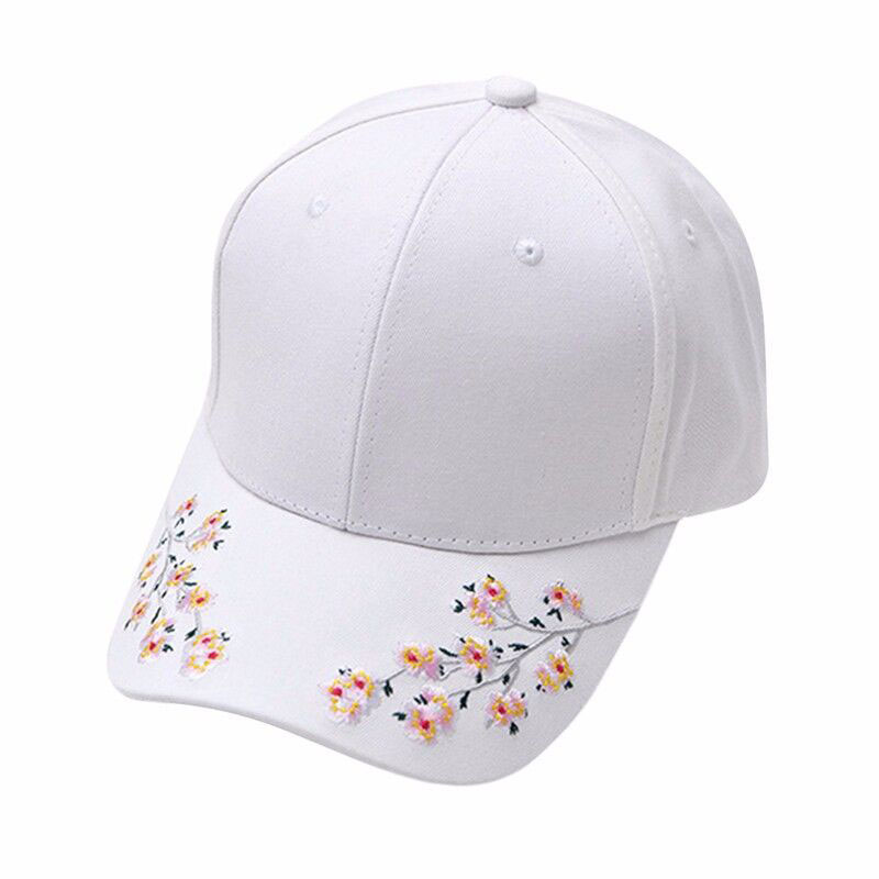 Cotton Baseball Hats for Women Plum Flower Embroidery Gorras Planas Hip Hop Casual Snapback Caps Gifts new 2017 hats for women mix color cotton unisex men winter women fashion hip hop knitted warm hat female beanies cap6a03