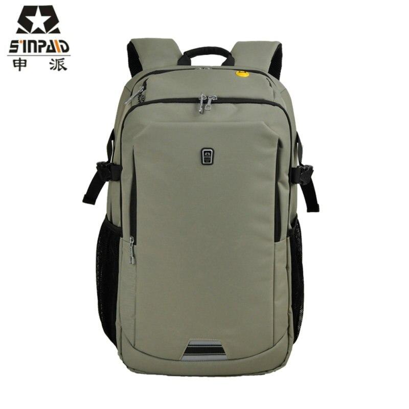 SINPAID 14 Inch Laptop Backpack Waterproof School Computer Bag Designer Ladies Shoulder Rucksack Solid Colored For Travel New-48