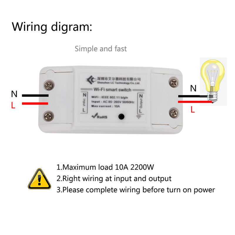 AC 220V Power Switch Wireless Controller WIFI Relay Wifi Relay Switch/WiFi Wireless Smart Switch Module for DIY Home wireless wifi