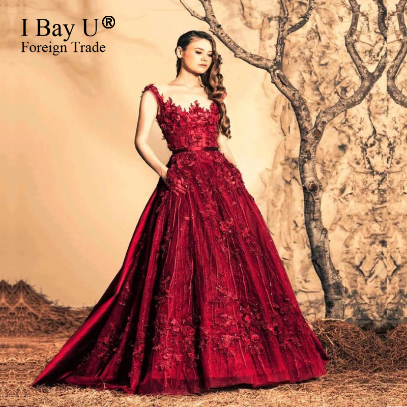 Red Flower Ball Gown – fashion dresses 73bcdea1558b