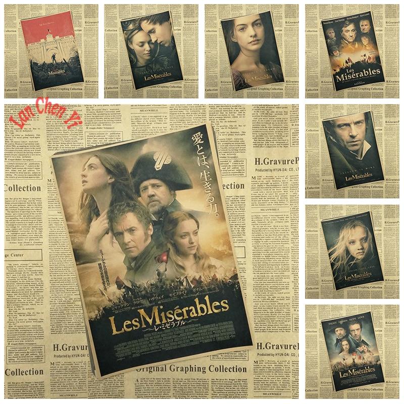 ღ ღnostalgic Matte Kraft Paper Poster Les Miserables Office Gift