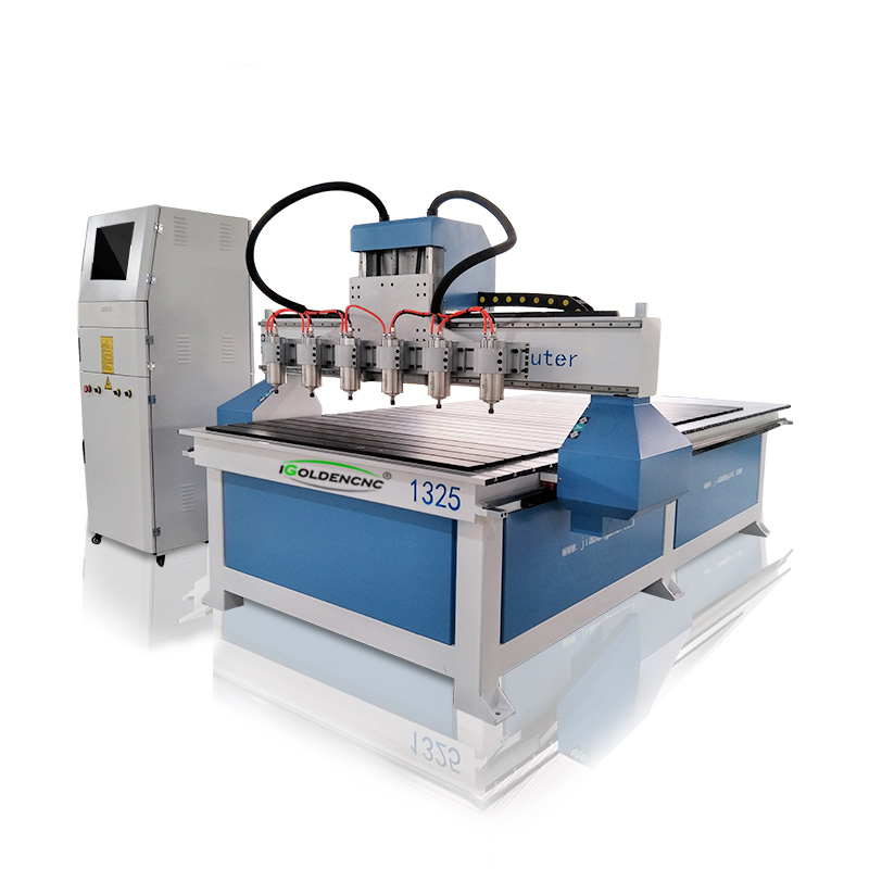 Multi Heads 1325 CNC Router 4*8ft Automatic Wood Carving Machine Working For Industrial Wooden Furniture MDF Door
