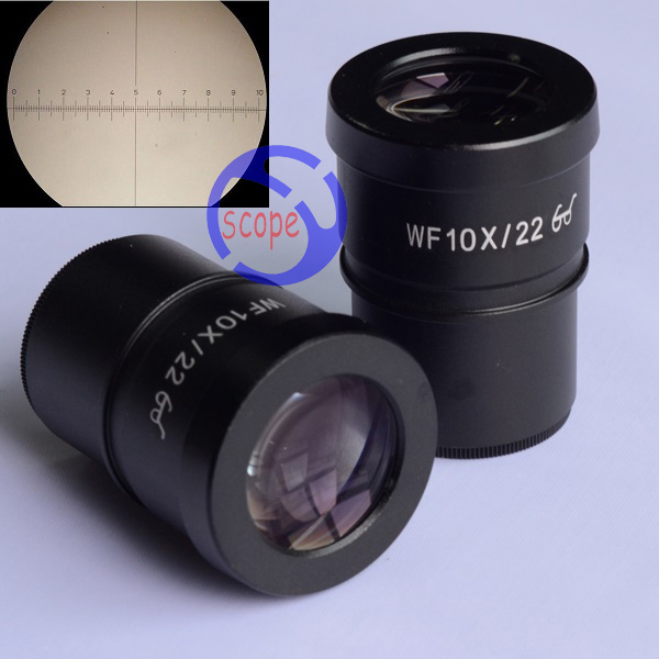 FYSCOPE WF10X/22 Super Widefield 10X Microscope Eyepiece with cross reticle 30mm accessories stereomicroscope special wide angle 10x eyepiece with 20 times the measured differential reticle