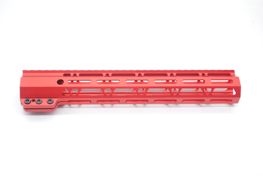 AR15 12'' Inch Clamping Chinese Red M-lok Style Rifle Handguard Rail for Hunting m style люстра botti 12