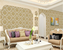 beibehang Non-woven fabric three-dimensional embossed Damascus bedroom living room background wall papel de parede 3d wallpaper цена 2017
