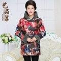 2016 invierno de las mujeres chinas jacket coat parka más el tamaño elegante chaqueta de piel mujer doudoune femme manteau abrigos mujer de algodón