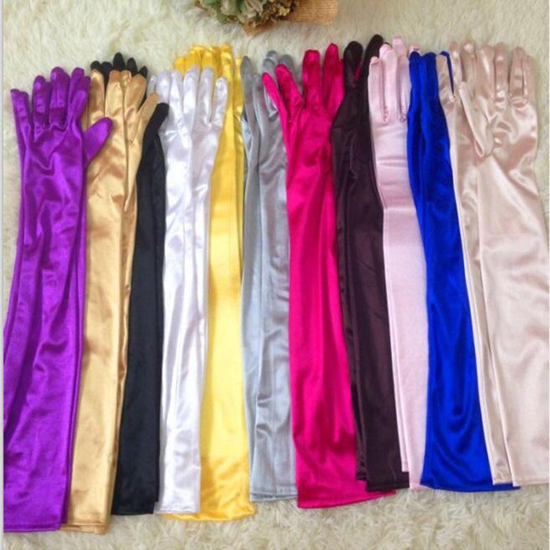 Fashion Sleeves Thin Silk Arm Cover For Performance Dance Show Women Hand Silk Gloves