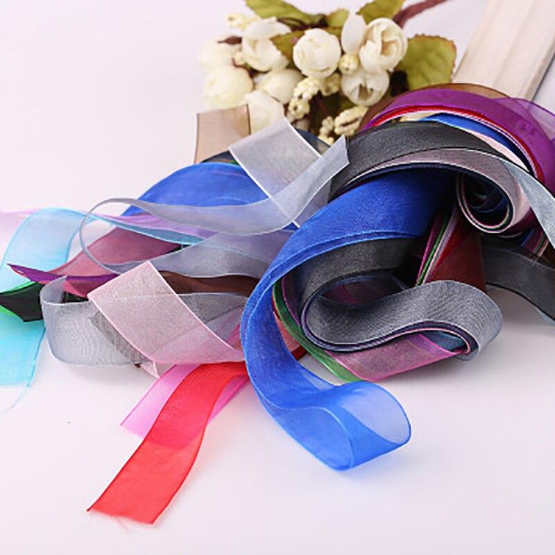 10meters Tulle Organza Craft Romantic Wedding Birthday Baby Showe Party Decoration DIY Snow Yarn Ribbon Gift