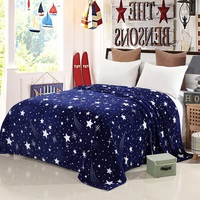 Dreamworld Star Flannel Blanket Warm Blankets For Winter Beds Soft Bed Cover Blanket Plaid Blankets And
