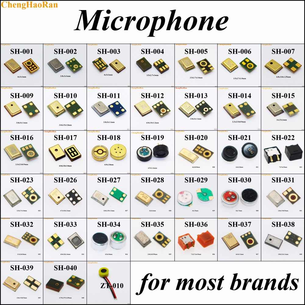 (2) Tabla de reparación de 38 modelos micrófono para iPhone 7/7 plus/Nokia Lumia 503 N73/Huawei C5730 para Samsung S6 edge reemplazo