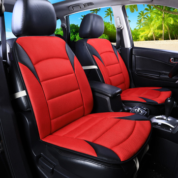 1pc front car seat cover breathable PU Leather automobile seat cushion for BMW X1 X3 X4 X5 g30 e30 e34 e36 e38 e39 e46 e53 e60 image