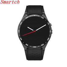 Smartch 2017 Man Watch Smart Health Android 5.1 Kw88 Smart Watch 512MB + 4GB WIFI 3G Smartwatch Phone Support Google Voice GPS M