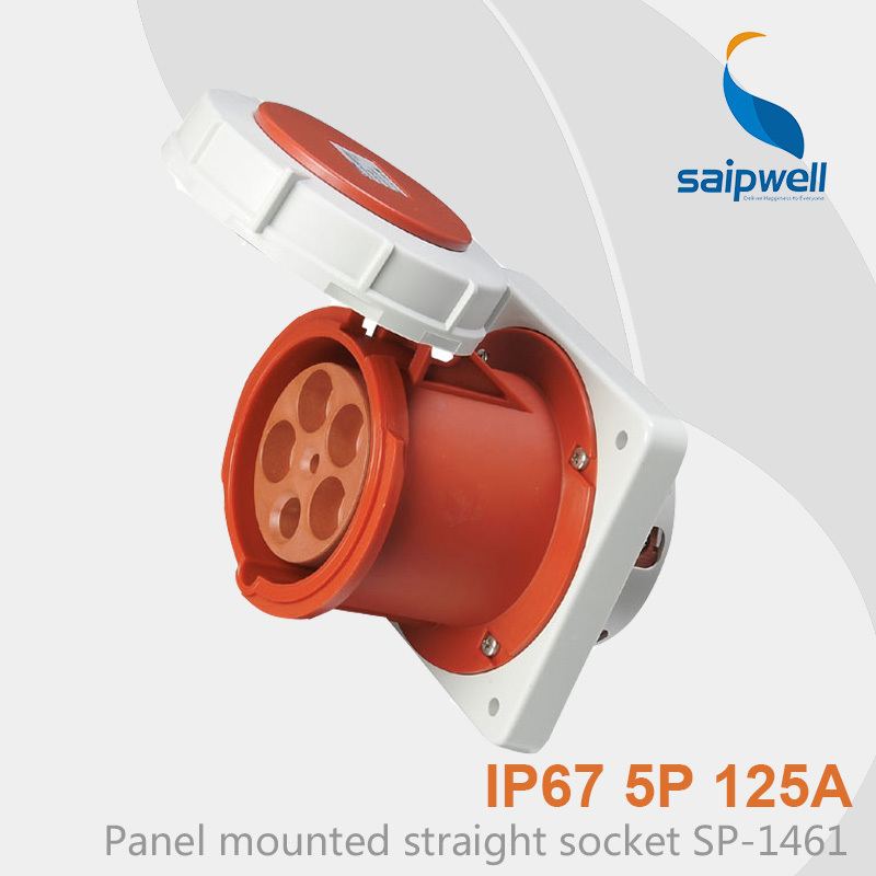 Saipwell Hot Sale IP67 Industrial Waterproof Sockets and Plugs 5P 125A SP-1461