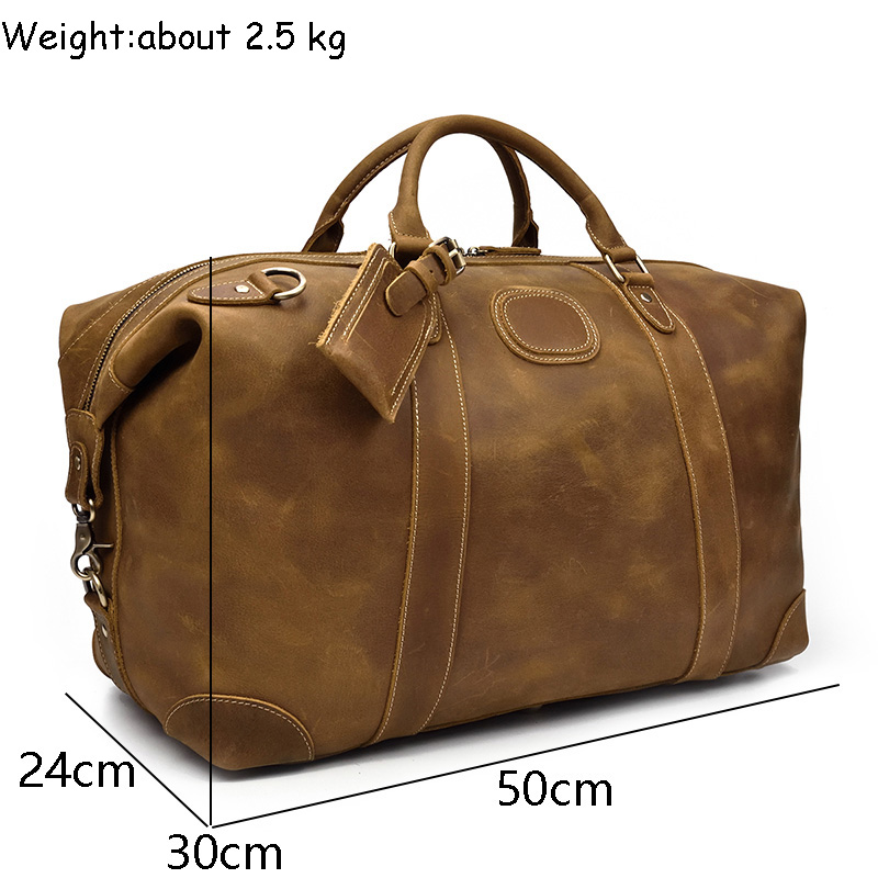 0e17df6c4b4b ... Travel Duffel bag big Cow Leather Carry On Luggage Weekend large  shoulder BagUSD 61.75-116.11 piece. product paramter. 6. Notice With the  differnence in ...