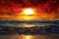 Красивый восход плакат удивительный цвета облака Ocean белые волны стены Стикеры Пользовательские Плакат 20x30 дюймов/16x24 дюймов/20x24 дюймов