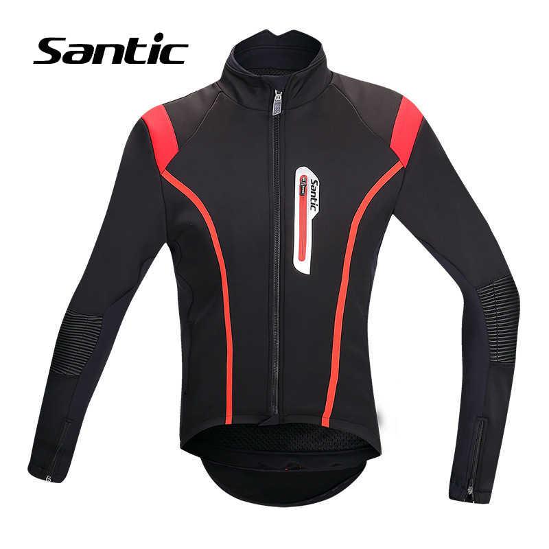 Santic 0-8 grados Invierno Polar chaqueta de ciclismo térmico hombres profesional a prueba de viento camino bicicleta de montaña chaqueta ropa de bicicleta S /M