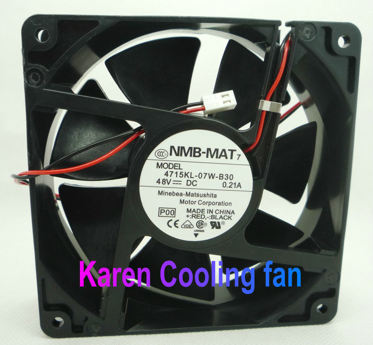 NMB New Original 12038 48V 0.21A 4715KL-07W-B30 cooling Fan new original delta 12cm tha1248be 12038 48v 2 6a cooling fan